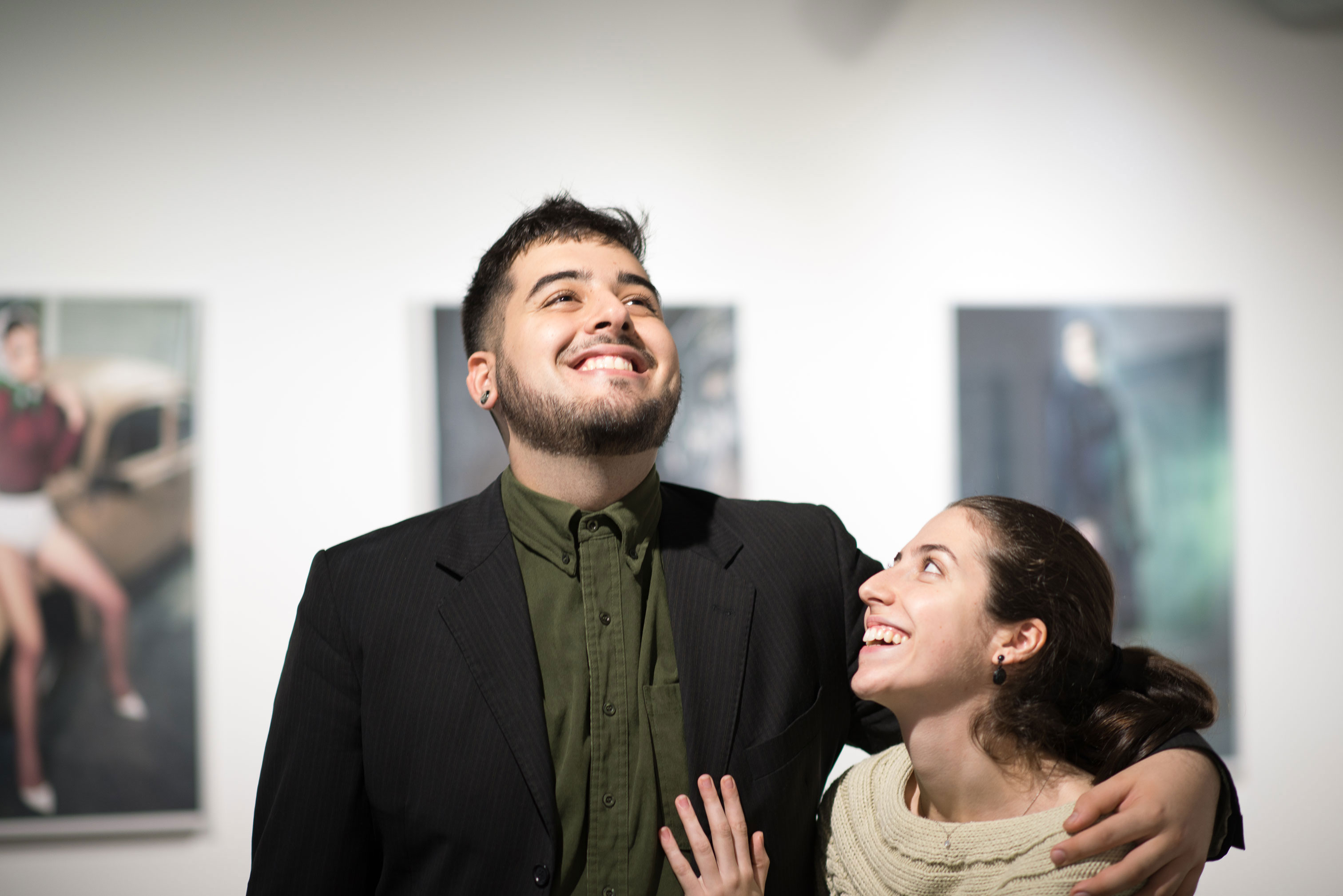 Gustavo and Beatriz Chams during Meandering, Inflections and Angry Camels photography exhibition